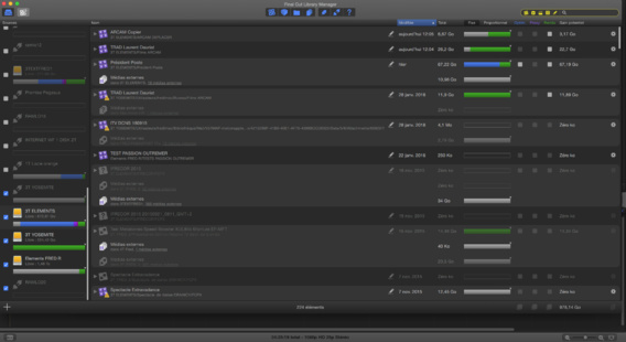 Ouverture de Final Cut Library Manager