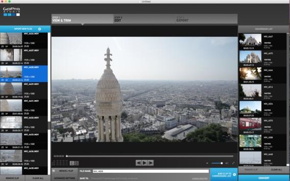 Le logiciel de montage GoPro Studio