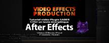 AE Plugin SABER : Tutoriel Animation de texte (Part 1)