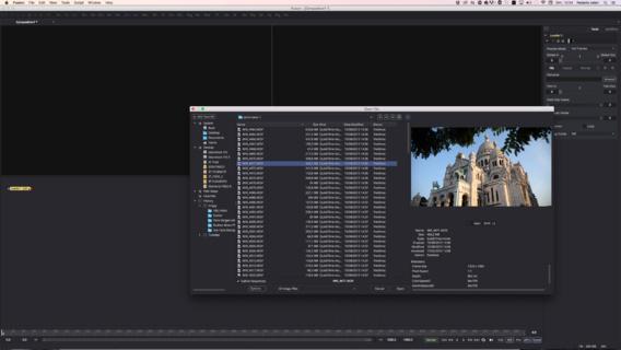 L'outil Loader pour charger des rush dans Fusion 8