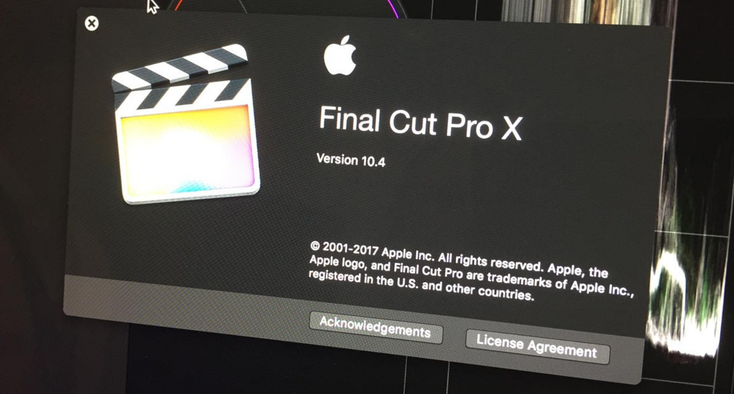 FCPX 10.4 la mise à jour d'Apple