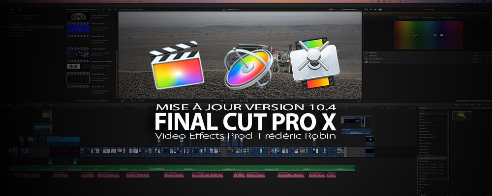 Final Cut Pro X : mise à jour en version 10.4