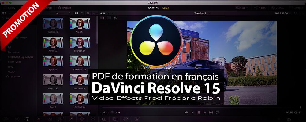 PDF de formation DaVinci Resolve 15