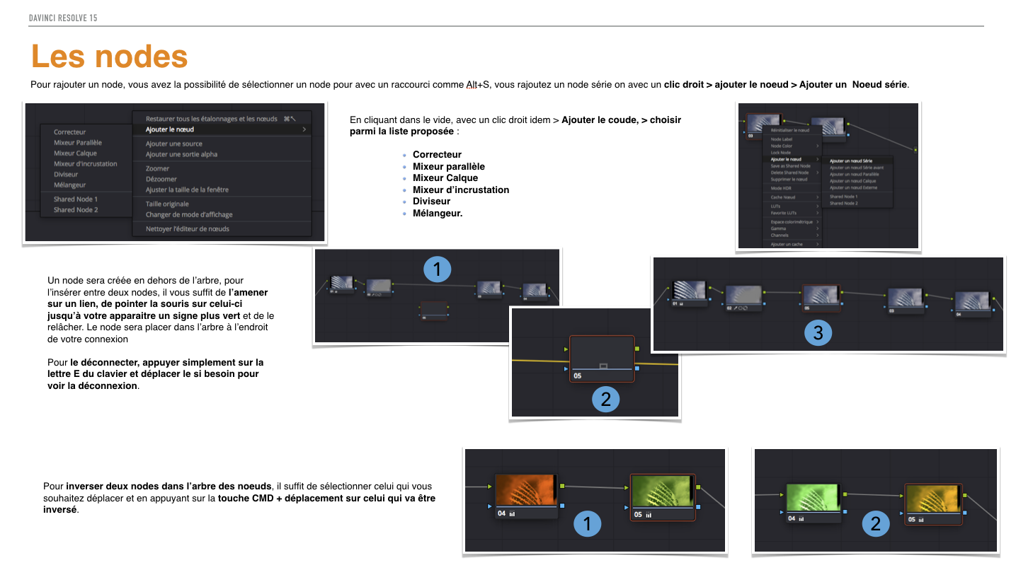 PDF de formation DaVinci Resolve 15