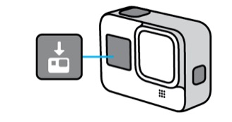 L'icône de mise à jour sur la GoPro Hero 8