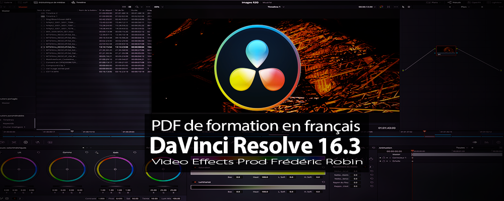 DaVinci Resolve : PDF de formation version 16.3 béta (avant version 17)