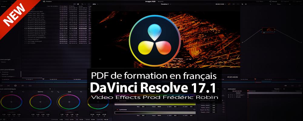 DaVinci Resolve 17 : PDF de formation en français