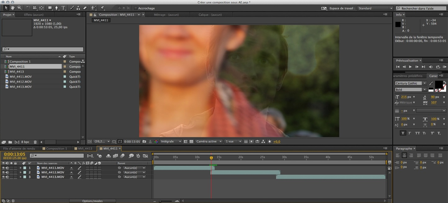 After Effects CC : Créer une composition