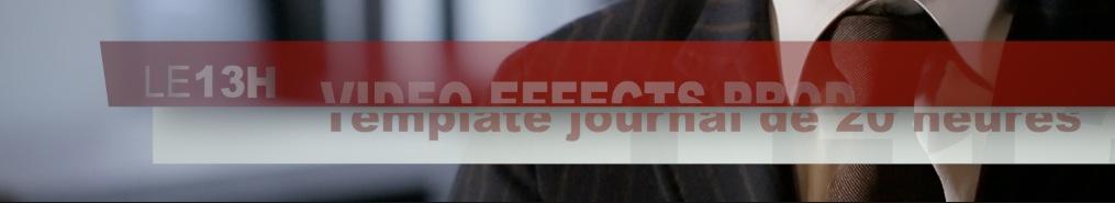 Template avec animation comme le journal de 20 heures de TF1.