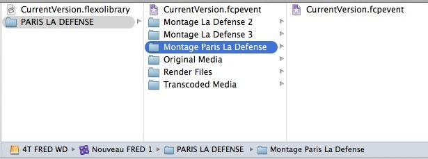 """Contenu du dossier """"Final Cut Pro Library"""" de FCPX 10.1."""