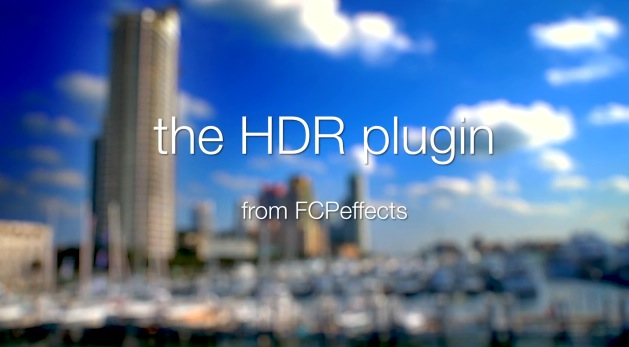 FCPEffects : HDR Plugin