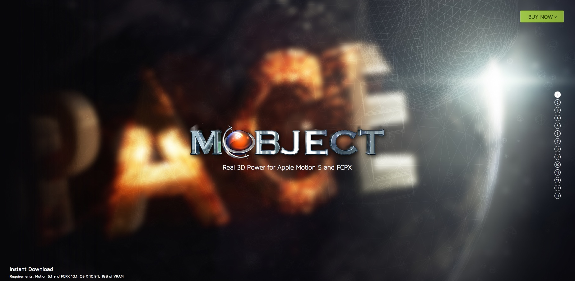 MotionVFX : mObject le plugin 3D pour Motion 5.1 et FCPX 10.1