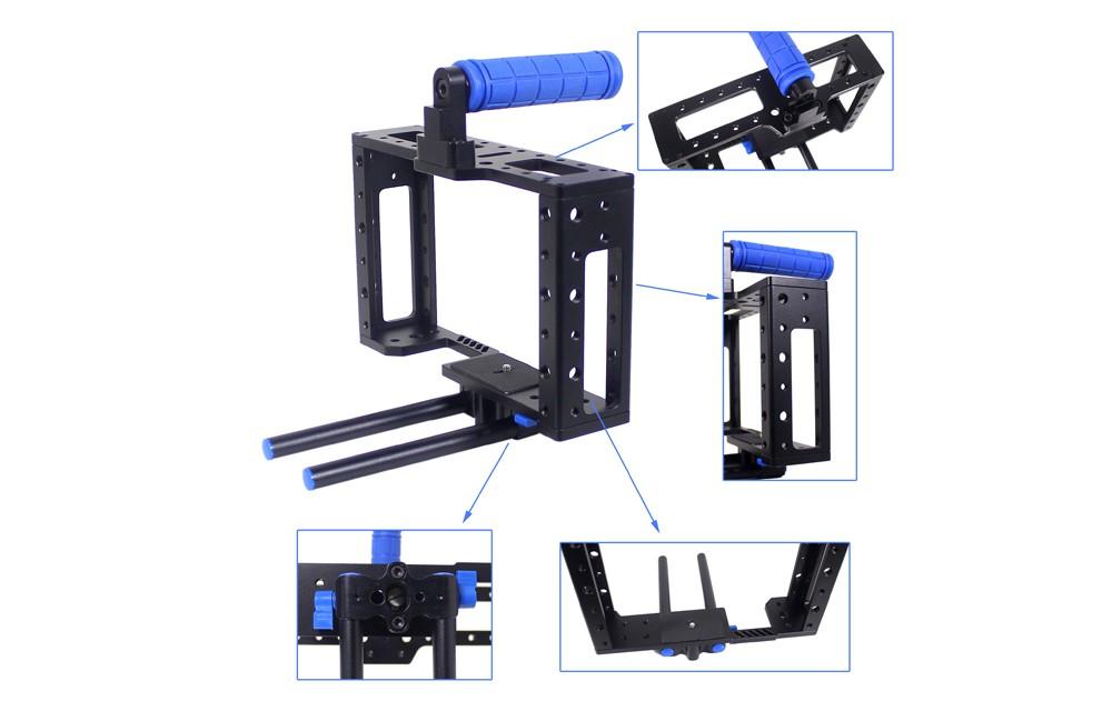 Cage Lovinpix HDDSLR pour reflexes numériques ou Blackmagic Pocket Cinema.