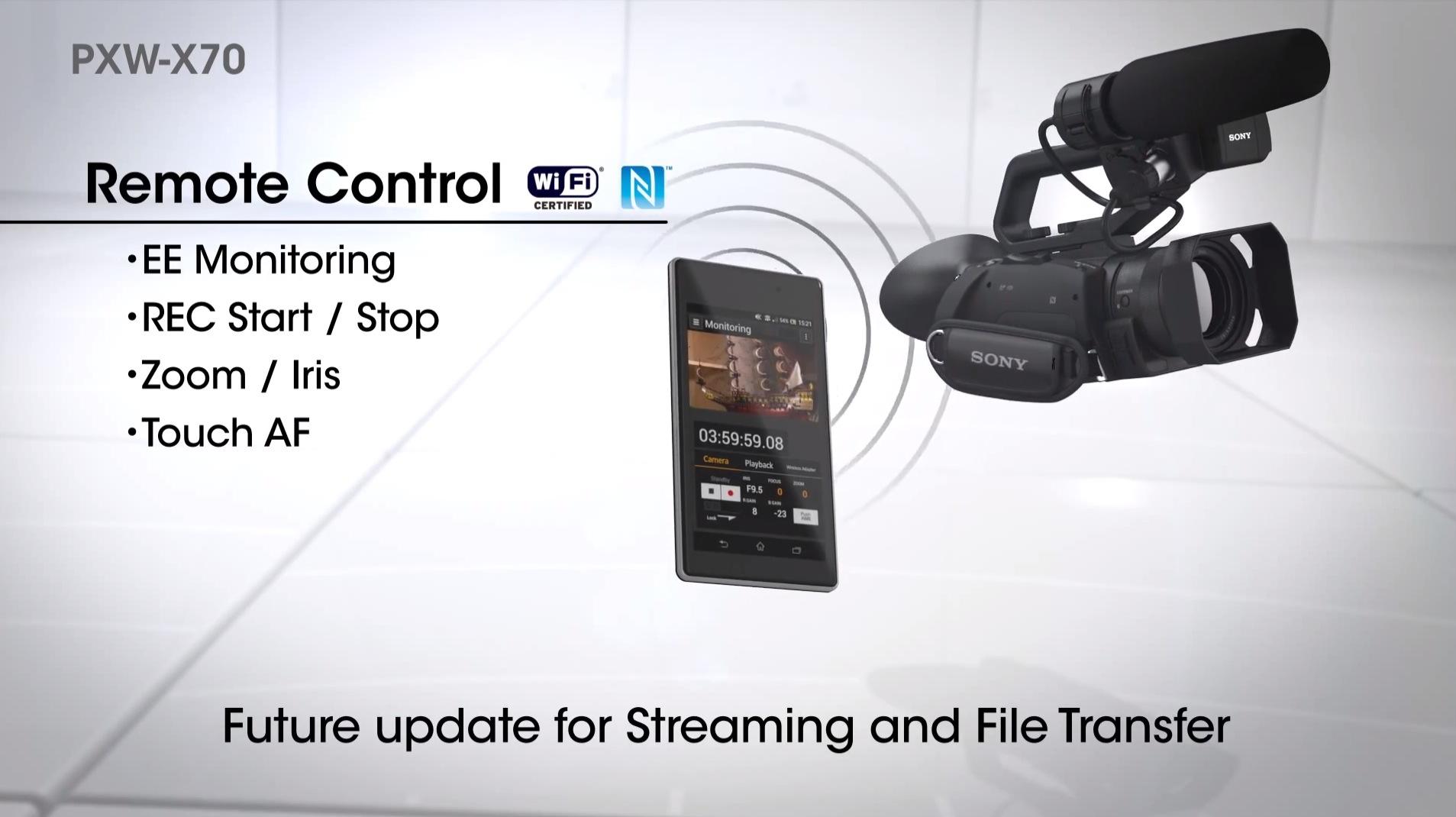 Sony : PXW-X70 caméscope compact professionnel XDCAM compatible 4k