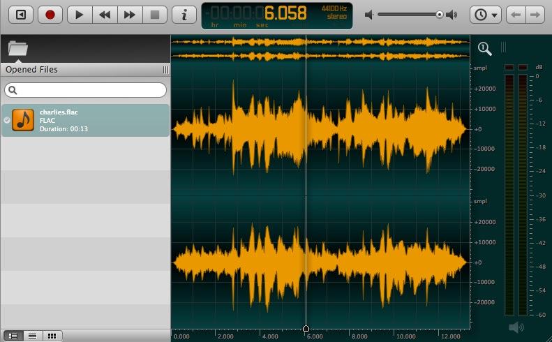 L'edituer Audio : Ocenaudio