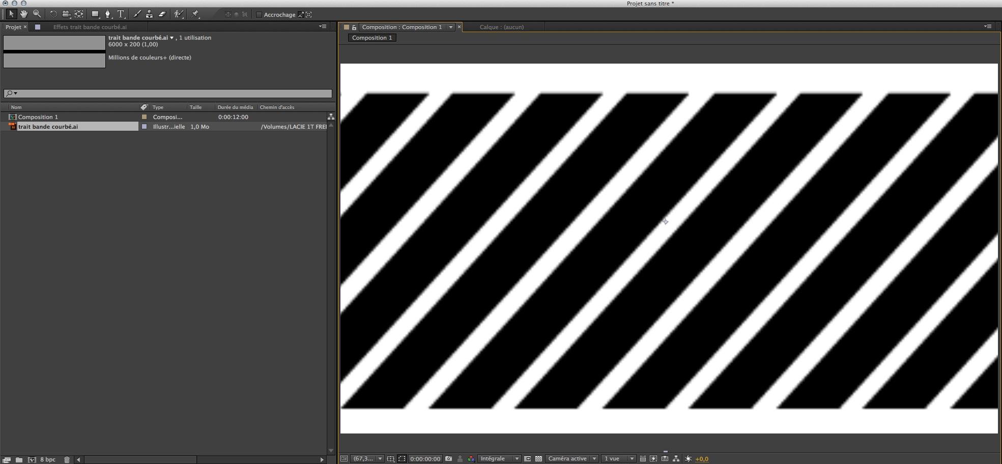 Vecteur importé et agrandi dans une composition After Effects, l'image est pixilisée