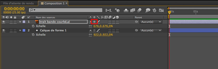 Fonction pixiliser en continu d'After Effects.
