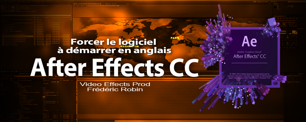After Effects : Changer la langue au démarrage du logiciel.