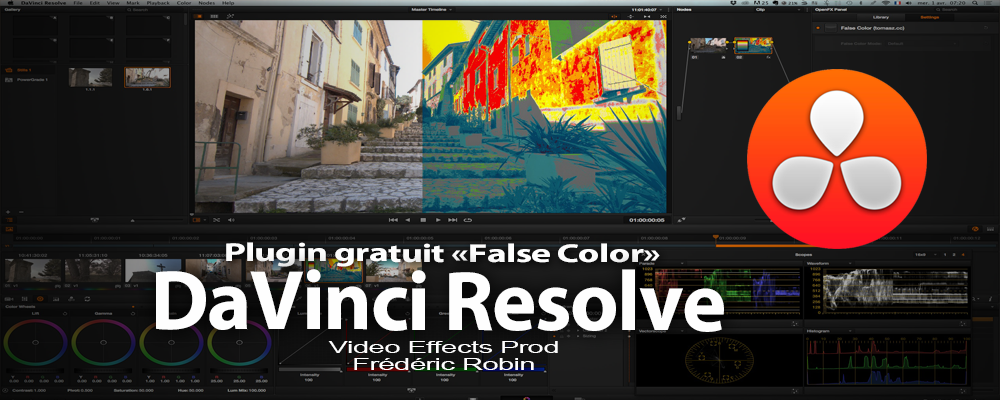 "Plugin gratuit ""False Color"" pour DaVinci Resolve"