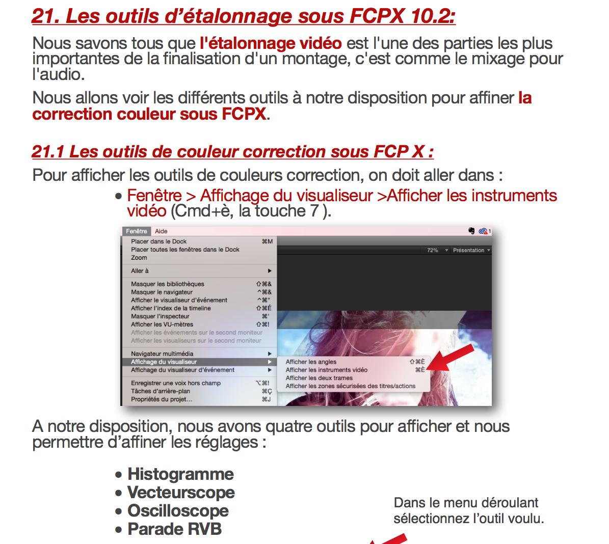 Nouvel effet d'Etalonnage sous FCPX 10.2