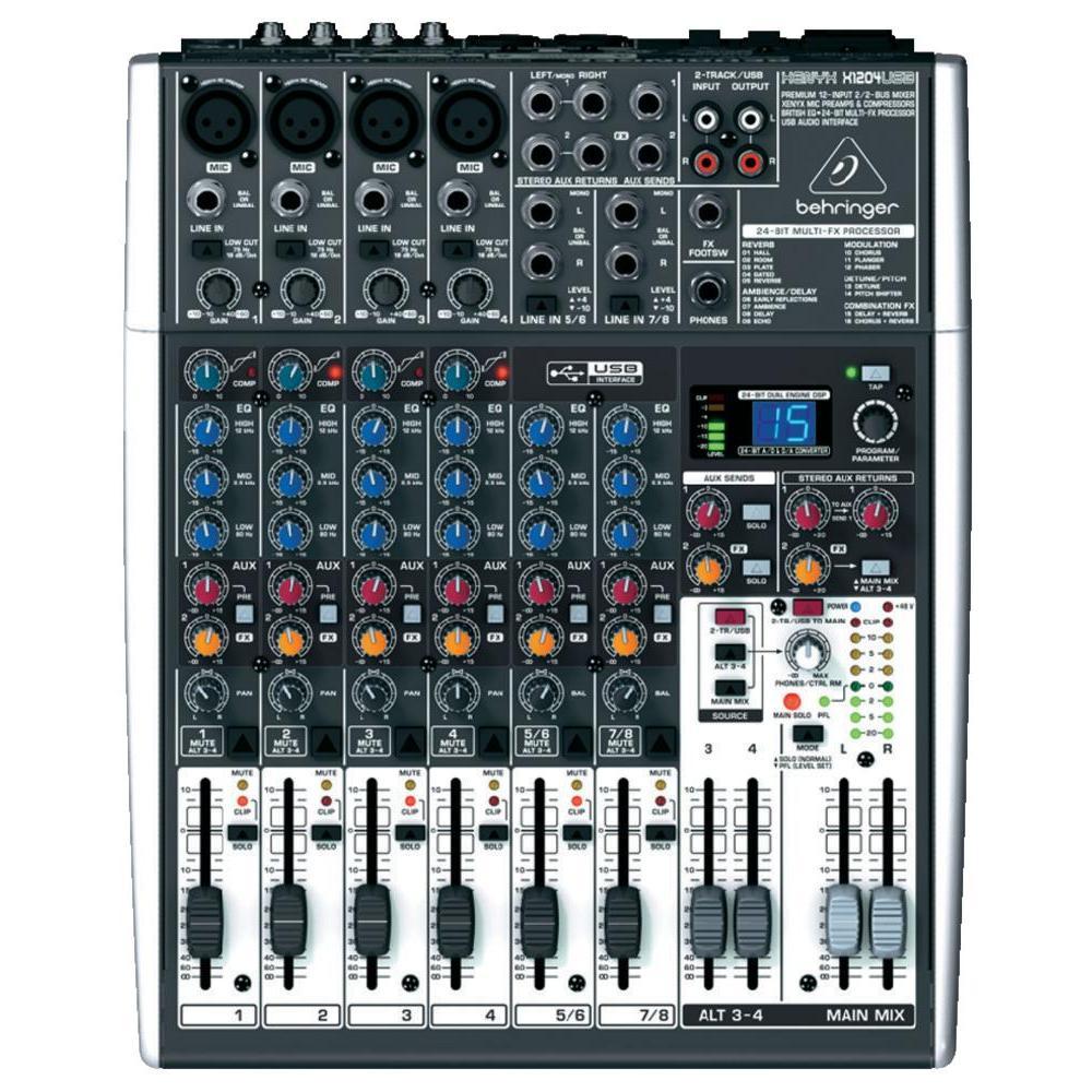 Traitement du son avec Behringer X1204 USB.