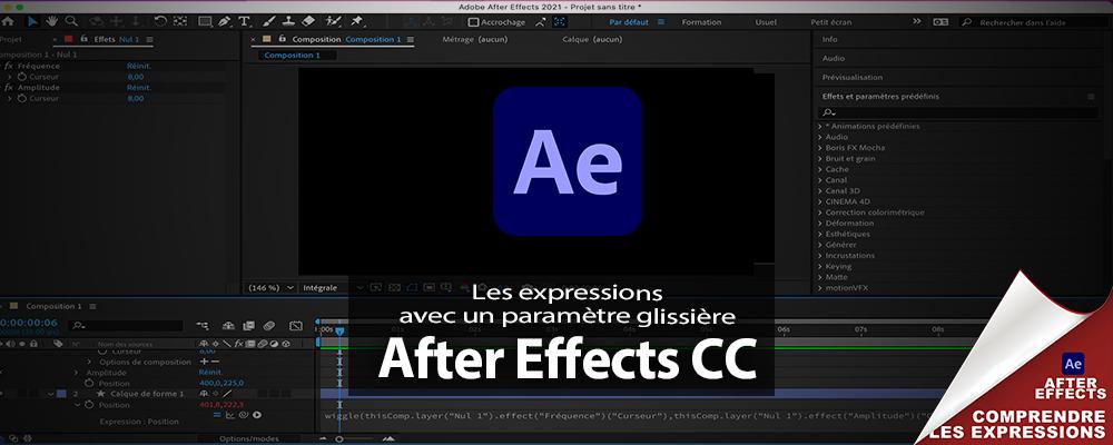 """After Effects : les expressions comment utiliser le """"paramètre glissière"""""""