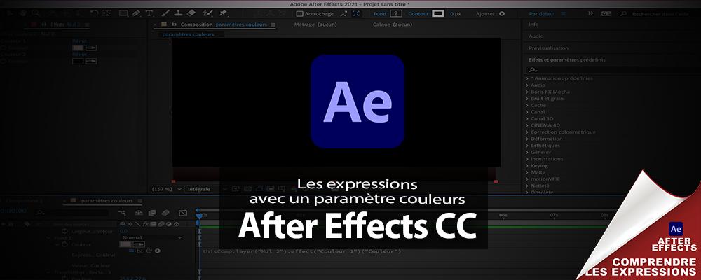"""After Effects : options d'expressions """"Le paramètre couleurs"""""""
