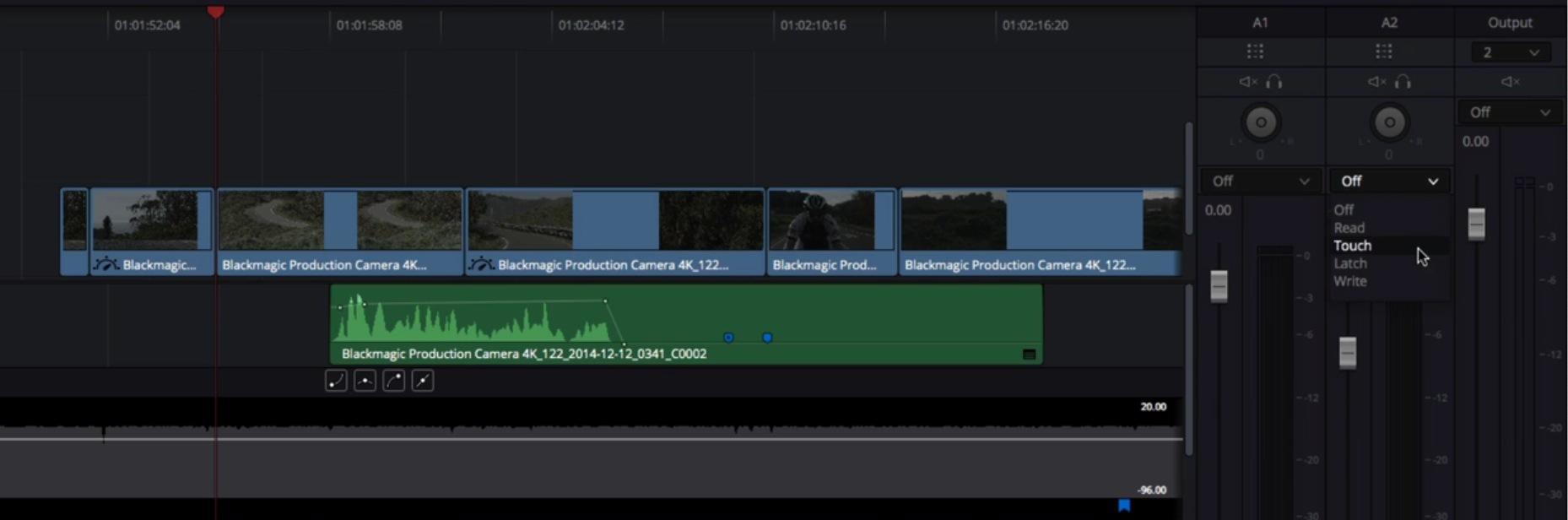 Enregistrement des points clefs son durant la lecture des clips.