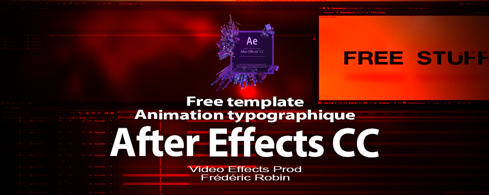 After Effects CC : free template animation typographique