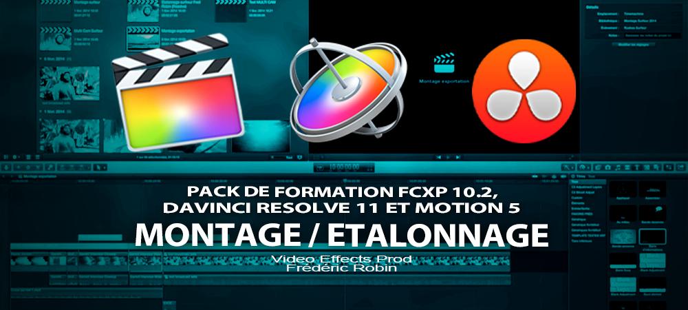 Pack de formation à FCPX, Motion 5 et DaVinci Resolve 11
