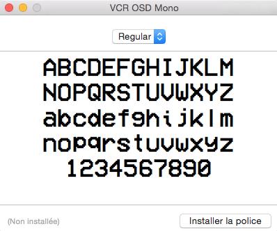 Installer une police caractère sous MAC OS X