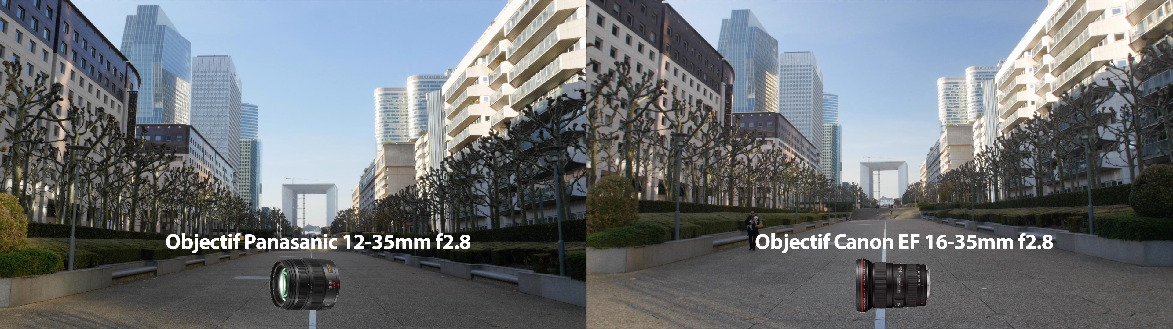 Comparaison entre le Panasonic et le Canon EF avec Speed Booster XL 0.64x