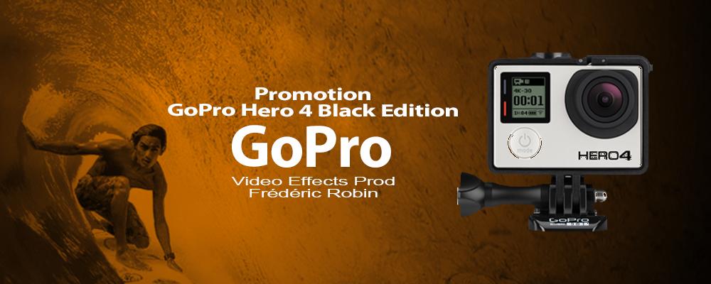 Gopro Hero 4 Black Edition : bon plan fin d'année