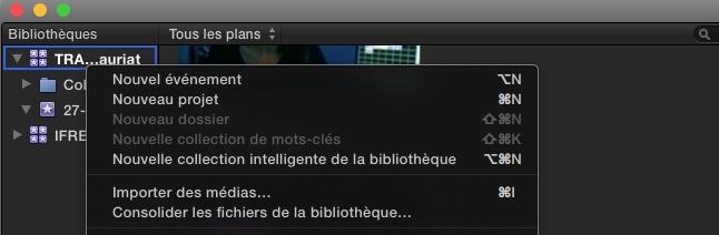 Consolider les fichiers de la Bibliothèque