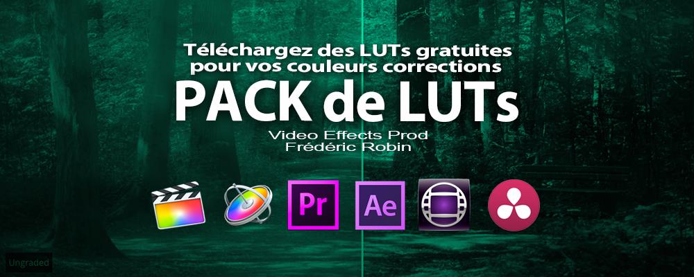 Pack de LUTs Color Grading dont 3 gratuits pour les tester