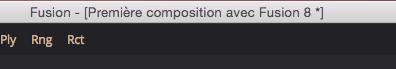Enregistrer une composition sous Fusion 8