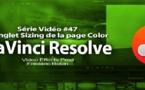 DaVinci Resolve 11 : L'onglet Sizing de la page Color #47