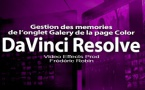 DaVinci Resolve 12 : Gestion des memories de l'onglet Galery (#video66)
