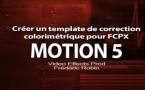 Motion 5 : Créer un template de correction colorimétrique (Part 2)
