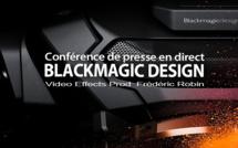 Blackmagic Design : Annonce Caméra Blackmagic et DaVinci Resolve