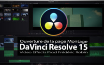 DaVinci Resolve 15 : Ouverture de la page Edit ou Montage