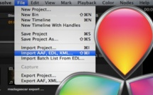 DaVinci Resolve et FCPX : importer XML et vérification fichier Part 28
