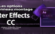 After Effects : les options de la fenêtre montage