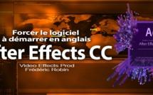 After Effects : Changer la langue au démarrage du logiciel.