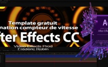 After Effects Free template : Animation compteurs de vitesse