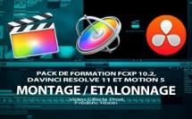 Pack de formation FCPX 10.2, Motion 5 et DaVinci Resolve 11