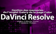 DaVinci Resolve 12 : Gestion des memories de l'onglet Galery (#video66)