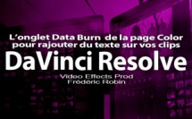 DaVinci Resolve 12 : L'onglet data Burn (#video78)