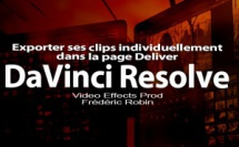 DaVinci Resolve 12 : Page Deliver Individual source clip (#video85)